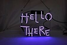 "'Hello There' Beer Bar Pub Decor Art Real Neon Light Sign 12""x10"""