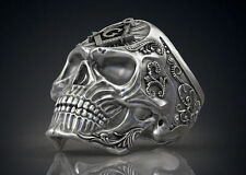 Handmade Masonic Freemason Skull .925 Sterling Biker Ring Michael M Jewelry