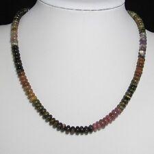 Collier 49cm EN multicolore Tourmaline Cercle et Argent 925