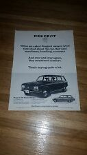 "1972 Peugeot 304 Vintage Magazine Ad ""When we asked Peugeot owners what they..."""