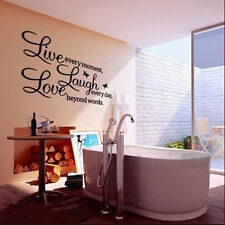 DIY ! Live Laugh Love Removable Vinyl Wall Sticker Decal Art Home Decor