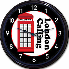 London Red Phone Booth Wall Clock London Calling Britain London UK Big Ben 10""