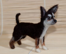 Needle Felted Chihuahua - One Of A Kind - Hand Made