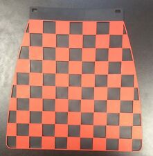 Mud flap chequered red on black for Vespa LML & Lambretta