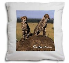 Two Cheetahs 'Soulmates' Soft Velvet Feel Scatter Cushion Christmas, SOUL-80-CPW