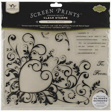 "Tattered Angels TAT09SPGGSNG  ""Notes from the Garden""  6 Piece Clear Stamp Set"