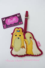 100% AUTHENTIC FLUFF CUTE SHIH TZU POOCH DOG PUPPY LUGGAGE TAG BNWT