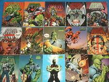 La base Savage Dragon Completo Conjunto de 90 tarjetas comerciales (Image/Wildstorm Comics)