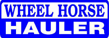 WHEEL HORSE HAULER DIE CUT DECAL - SET OF 2 - BLUE