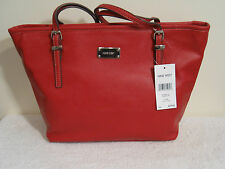 Nine West Pebbled Faux Leather 'It Girl' Tote NWT $79 Red