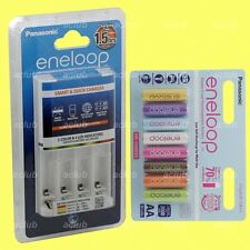 Panasonic eneloop Rechargeable Color AA Battery x 8 + AA AAA Fast Quick Charger
