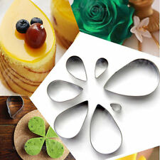 Water Drop Shape Cookie/Cake/Jelly Metal Cutter Tin Mold Mould Baking Deco Sets