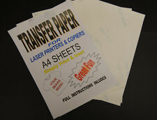 40x A4 Laser & Copier T Shirt Thermal Transfer Paper Sheets For Light Fabrics