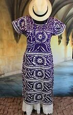 Collector Quality, Vintage Style, Hand Embroidered Huipil Dress, Jalapa Mexican