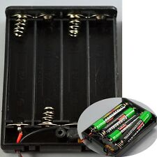1Pcs 4AAA Battery 6V Holder Box Case with ON/OFF Switch and Lead Wire