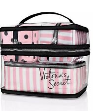 Victoria's Secret Train Travel Case  Pink Makeup, 4 Piece New Lot.