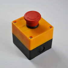NEW 660V 10A Emergency STOP Push Red Sign Button Switch Control Waterproof Yello
