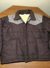 Vtg Unitog Brown Western Yoked Jacket With Quilted Liner Mens XL Union Made USA