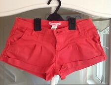 Ladies Pink/Red Hotpant Shorts - Size Small