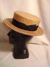 Vintage...1920's....Princely.....Skimmer...Straw.....Boating......Hat