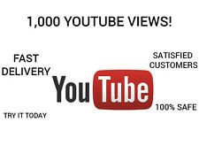 1,000 Youtube Views - FAST DELIVERY