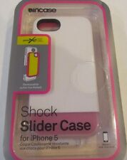 NEW sealed Incase Shock Slider Cases for Apple iPhone 5 White/Frost/Magenta
