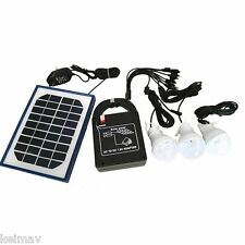 Solar Rechargeable Home Lighting System with USB AT888