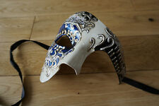 Venetian Unisex, men's, ladies Phantom/Half face Mask.Masquerade/Ball/Prom.BLUE