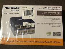 Brand New Sealed In Box Netgear GS105 5-Port Managed Gigabit Ethernet Switch