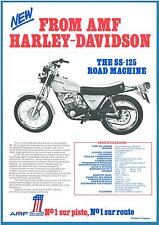 Prospectus Publicitaire AMF HARLEY DAVIDSON 125 SS