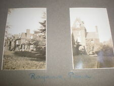 2 Old amateur photographs large house at Penn Buckinghamshire c1930s Ref 5abc8