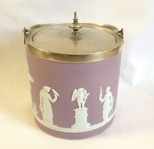 Wedgwood Biscuit Barrel - Wedgwood Lilac Jasperware Biscuit Barrel