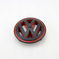 Matt Black Red Front Grill Badge Replacement Logo Decal Emblem for Passat CC VW