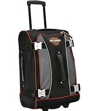 "Harley-Davidson® 21"" Wheeled Upright Rolling Carry-On Luggage Bag 99620-GRY/BLK"