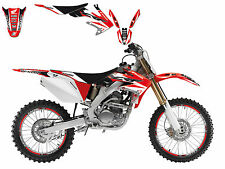BLACKBIRD HONDA CRF 250 X 2006 2007 KIT GRAFICHE COMPLETO DREAM 3 GRAPHICS ROSSO