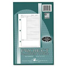 Roaring Spring Project Planner Paper 8 1/2 x 5 1/2 White 80 Sheets 20820 USA