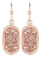 Kendra Scott Dainty Lee Drop Earrings in Rose Drusy & Rose Gold Plated