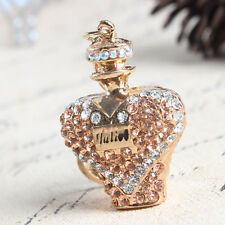 Perfume Bottle New Fashion Crystal Charm Pendant Purse Bag Key Chain Accessories