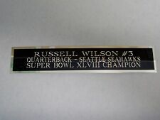 Russell Wilson Seahawks Nameplate For A Football Jersey Display Case 1.5 X 8