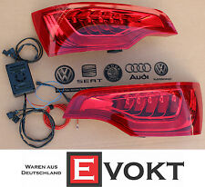 Audi Q7 Facelift LED Tail Light Set With Adapter Control Unit 06-09 Genuine New