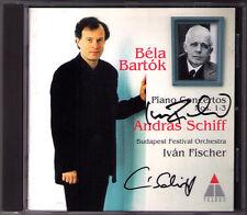 Andras SCHIFF, Ivan FISCHER Signiert BARTOK Piano Concerto No.1 2 3 Autograph CD