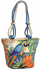 Guy Harvey Tropical Jungle Macaw Parrot Ladies Shoulder Tote Bag Womens