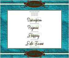 SCRAPBOOK PAGE 2 eBay Listing AUCTION TEMPLATE aqua blue browns Clean Layout