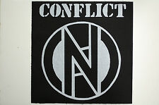 Conflict Back Patch (BP10) Punk Rock Discharge GBH Adicts Dead Kennedys Ramones