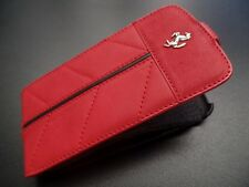 Ferrari Galaxy CG MOBILE S3 California Red Leather Case Cover with front flap