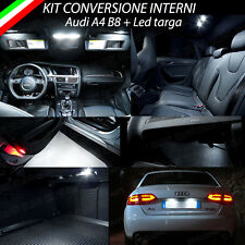 KIT LED INTERNI + LED TARGA + LAMPADE H11 A LED PER AUDI A4 B8 6000K NO ERROR