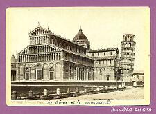CDV ALBUMINÉE CABINET : ITALIE, PISA, TOUR DE PISE, CAMPANILE & DÔME, 1879  -G59
