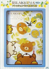Rilakkuma Fresh Lemon Blue Wall Clock SS8234
