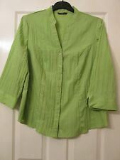 LADIES GREEN SMART BLOUSE TOP SIZE 22 BY EVANS