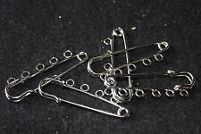 Iron kilt pins/brooch pins with loops, brooch backs, jewellery making